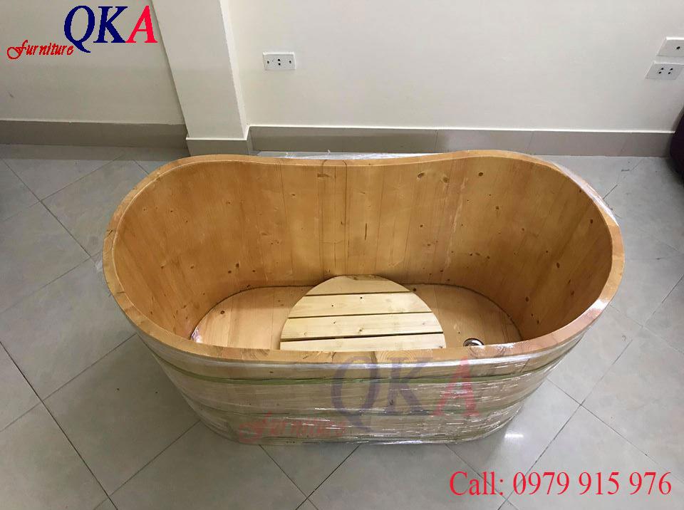 bồn tắm gỗ, thùng tắm gỗ. Mẫu bồn nằm, đúng, spa, thảo dược