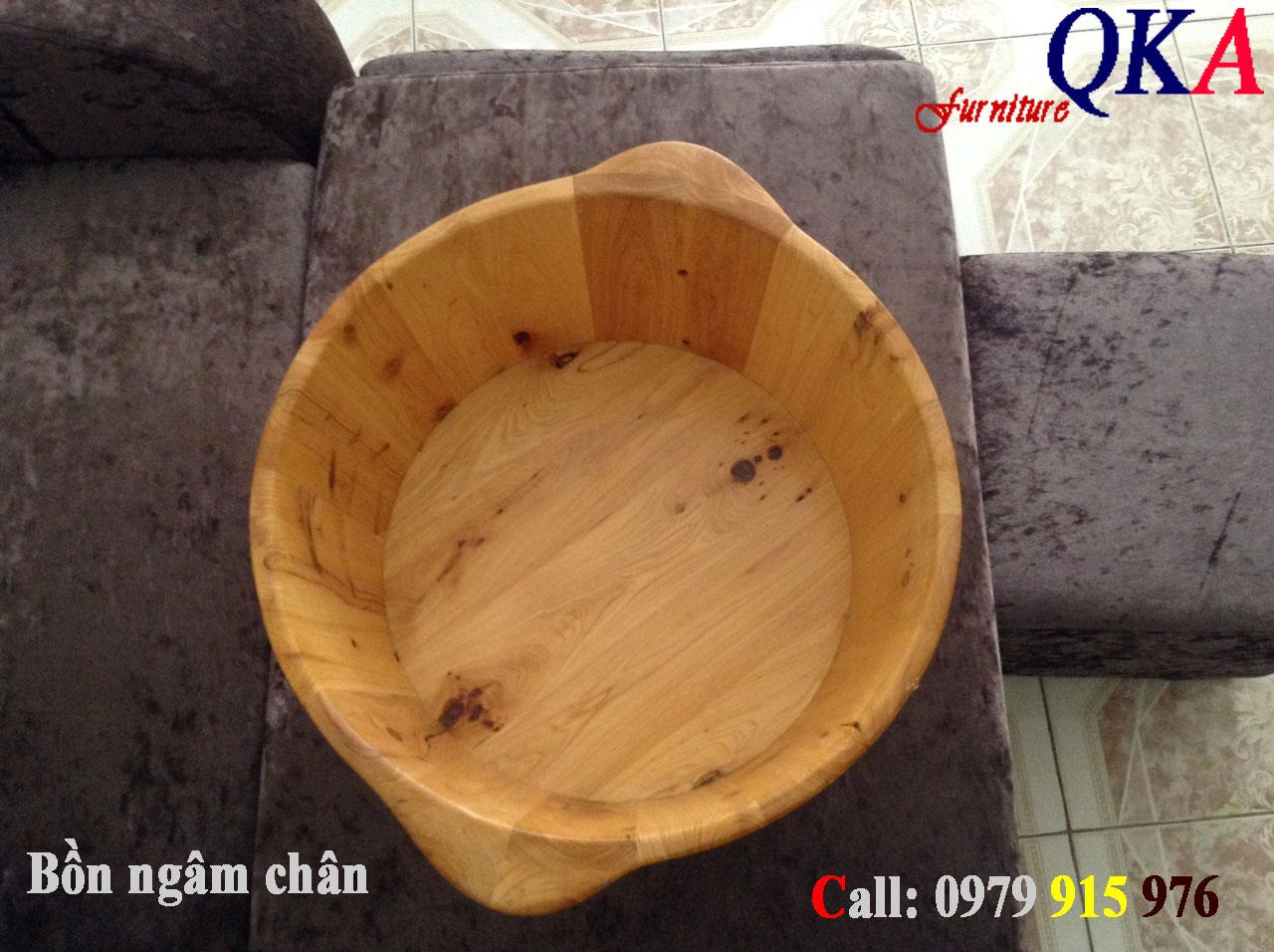 Mẫu bồn ngâm chân gỗ