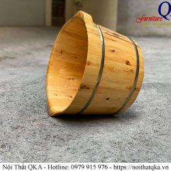 Chậu ngâm chân gỗ Bách Hương