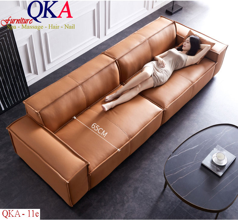Mẫu ghế sofa – QKA 11e Bọc da